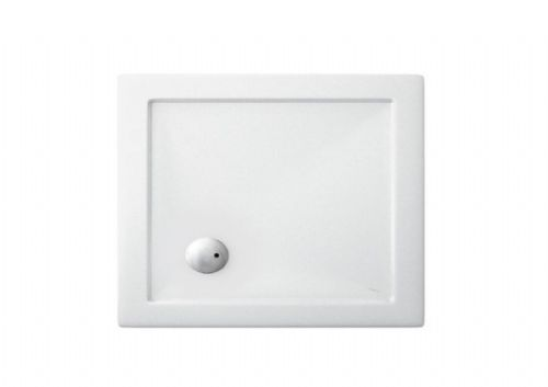 Zamori Square, White, Reinforced, Anti-Bacterial Shower Trays, All Sizes